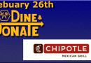 February 26th Dine & Donate