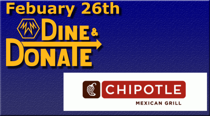 February 26th Dine & Donate