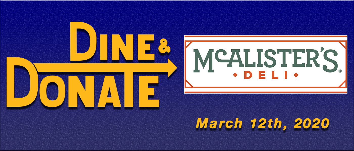 March 12th Dine & Donate