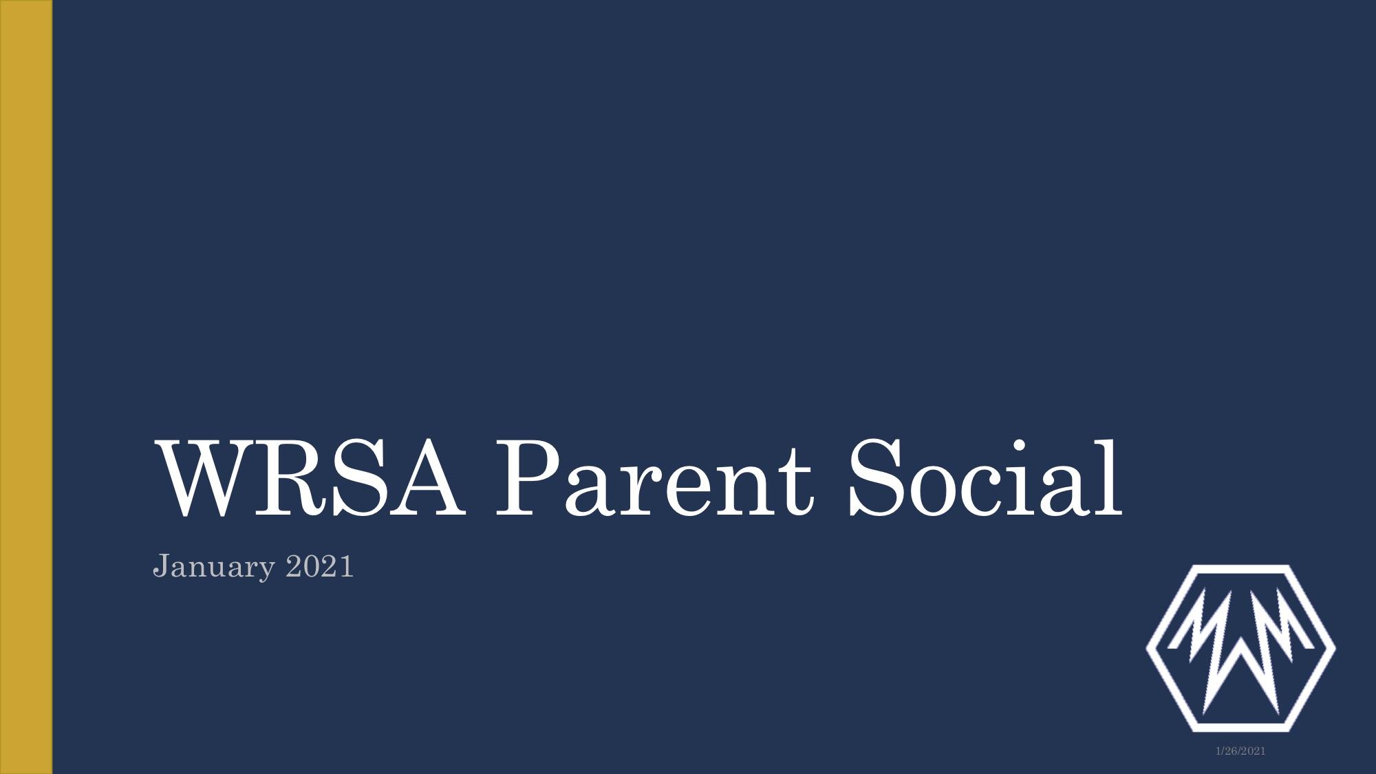 WRSA Parent Social Recap